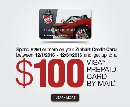 Ziebart Credit Card Rebate