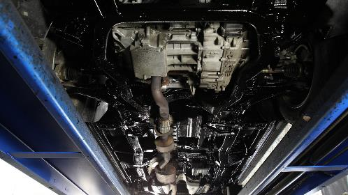 Undercarriage of a clean car